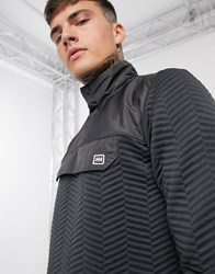 Helly Hansen Lillo 1 4 Zip Fleece In Black Texture