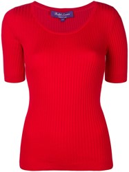 Ralph Lauren Collection Ribbed T Shirt Red