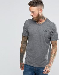The North Face T Shirt With Chest Logo In Grey Grey