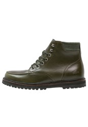 Lacoste Montbard Laceup Boots Dark Green
