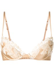 La Perla Lace Push Up Bra Nude Neutrals