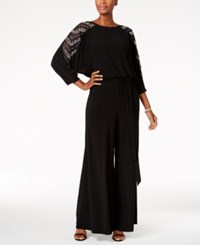 Msk Beaded Jumpsuit Black