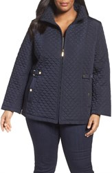 Gallery Plus Size Women's Quilted Scuba Jacket Ink