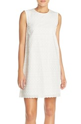 Women's French Connection 'Bixa' Embroidered Cotton Shift Dress