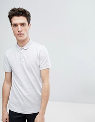 Selected Homme Polo In Marl Gray Violet Grey