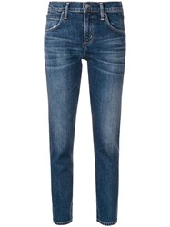 Citizens Of Humanity Cropped Straight Leg Jeans Blue
