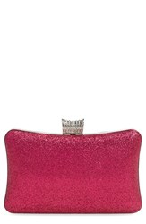Natasha Couture Glitter Clutch Purple Fuchsia