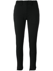 Y 3 Cropped Trousers Cotton Polyester M Black