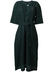 Humanoid Belted Dress Green