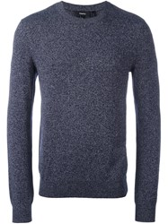 Theory Crew Neck Jumper Blue