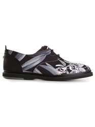 Thorocraft Floral Print Oxford Shoes