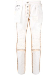 Unravel Project Reversed Distressed Jeans White