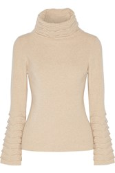 Temperley London Textured Knit Wool Turtleneck Sweater
