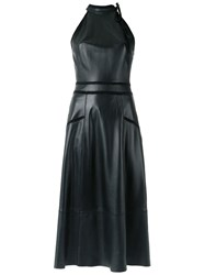 Talie Nk Leather Midi Dress Black