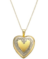 Macy's Heart Locket Pendant Necklace In 14K Gold
