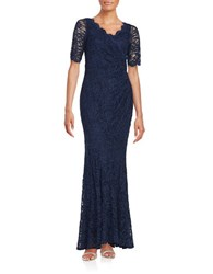 Decode 1.8 Floral Lace Gown Indigo