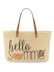 Straw Studios Hello Summer Conversation Tote Natural