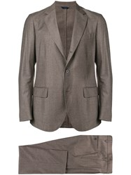 Tombolini Woven Formal Suit Brown
