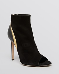Alejandro Ingelmo Open Toe Booties Eva High Heel Black