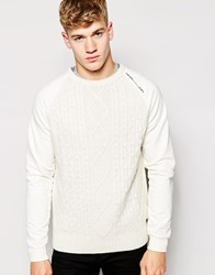 Firetrap Cable Knit Jumper Beige