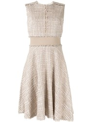 Paule Ka Fitted Check Dress Pink