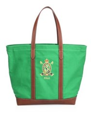 Polo Ralph Lauren Crest Canvas Tote Green