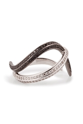Nikos Koulis 18Kt Gold Thumb Ring With Black And White Diamonds