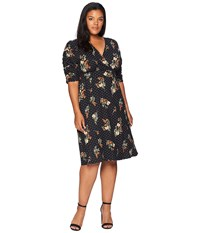 Kiyonna Gabriella Dress Poppy Dot Motif Black