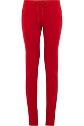 Y 3 Hane Cotton Jersey Track Pants Red