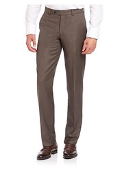 Saks Fifth Avenue Collection Wool Trousers Brown