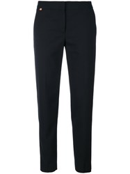 Paul Smith Cropped Tapered Trousers Wool Black