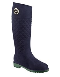Tommy Hilfiger Babette Quilted Rain Boots Blue