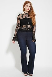 Forever 21 Plus Size Bootcut Jeans Dark Denim