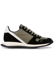 Rick Owens Vintage Runner Lace Up Sneakers Green