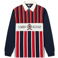 Tommy Jeans Crest Rugby Shirt Blue