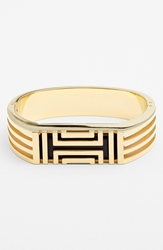 Tory Burch For Fitbit Hinged Bracelet Shiny Gold