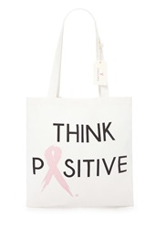 Forever 21 Think Positive Canvas Tote White Black