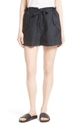 Vince Women's Drawstring Utility Shorts Coastal