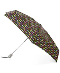 Totes Signature Auto Open Close Compact Umbrella Black Rain