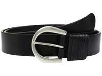 Lauren Ralph Lauren 1 1 2 London Wire Buckle On Veg Leather With Multi Strand Keeper Black Women's Belts