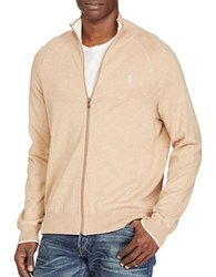Polo Ralph Lauren Cotton Full Zip Sweater New Camel