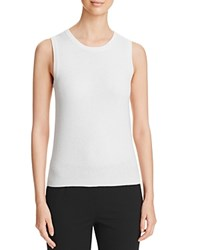 Bloomingdale's C By Sleeveless Cashmere Sweater Snow