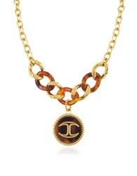 Just Cavalli Nature Medallion Stainless Steel Women's Necklace Gold