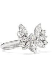 Stephen Webster Hearts On Fire White Kites 18 Karat White Gold Diamond Ring