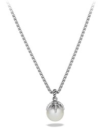 Starburst Pearl Pendant With Diamonds On Chain David Yurman Silver