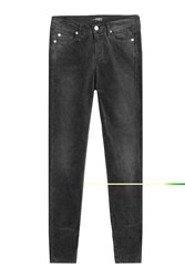 7 For All Mankind Seven Skinny Corduroy Pants Grey
