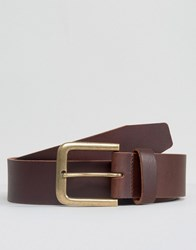 New Look Leather Jeans Belt In Brown Brown