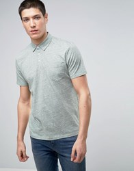 Selected Homme Polo In Marl Shadow Green