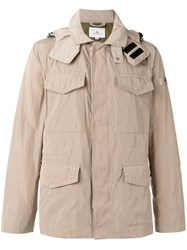Peuterey Multi Pockets Hooded Jacket Nude Neutrals