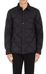 Rag And Bone Men's Mallory Down Quilted Nylon Shirtjacket Black